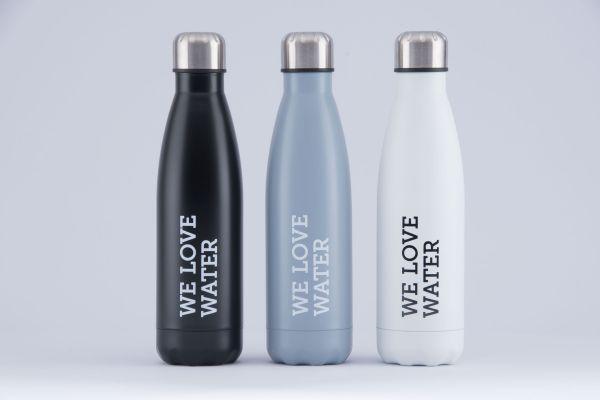 WLW Trinkwasserflasche grau